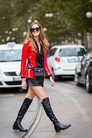 chaqueta roja Outfits casuales y sexys para chicas